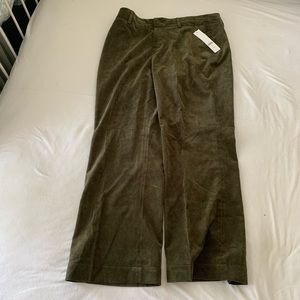 Coldwater Creek green trousers 14 P NWT